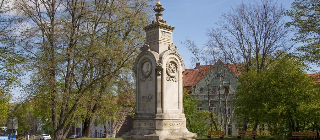 Das bisher größte Vereinsprojekt: Das wiedererrichtete Arnoldi-Denkmal in Gotha