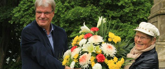 Arnoldi an seinem Todestag geehrt – Sanierung des Denkmals musste wegen anstehender Bauarbeiten verschoben werden