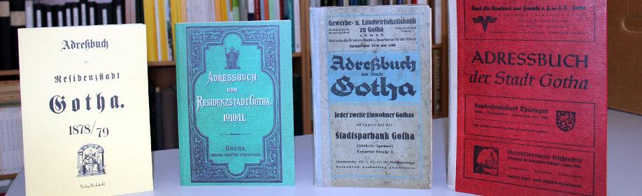 Am Samstag lädt der Verein für Stadtgeschichte Gotha zum Tag der offenen Tür in das Hintergebäude vom Brühl 4 ein. Dort kann unter anderem in alten Adressbüchern geblättert werden. (Foto: Matthias Wenzel)